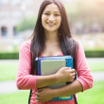 Hispanic college student — Stock Photo