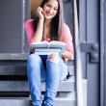 Hispanic college student studying — Stock Photo #13161264