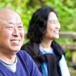 Happy senior asian couple — Stock Photo #5454817