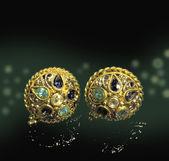 Topaz earrings — Stock Photo