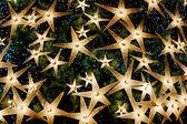 Christmas background of bright stars — Foto de Stock
