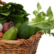 Assorted vegetables in a basket — Stock Photo