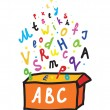 Stock Vector: Abc letters