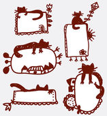 Doodle funny frames — Stock Vector