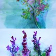 Watercolor paitings of flowers - Lizenzfreies Foto