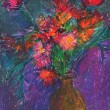 Bunch of flower oil pastel art — Stock Photo