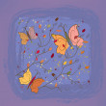 Vintage autumn floral background — Stock Vector
