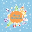 Royalty-Free Stock Imagen vectorial: Merry christmas greeting card