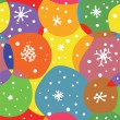 Abstract christmas seamless pattern with circles — Stock Vector