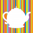 Tea pot menu funny background — Stock Vector
