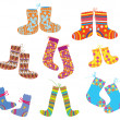Royalty-Free Stock Vector Image: Socks set for christmas