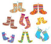Socks set for christmas — Stock Vector