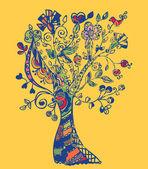 Autumn tree card — Stock Vector