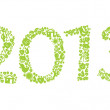 2013 year ecology sign — Stock Vector