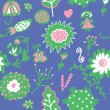 Whimsical floral seamless pattern — Stock Vector #16940663