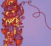 çiçek traditonal doğu arka plan — Stok Vektör
