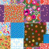 Patchwork seamless pattern — Stock Vector