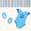 Royalty-Free Stock Immagine Vettoriale: Baby background for boy