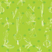 Salad vegetables seamless pattern — Stok Vektör