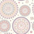 Ornamental seamless circle pattern — Stock Photo