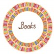 Book frame circle design - Stock Vector