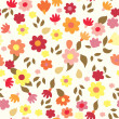 Floral seamless cute pattern simple — Stock Vector