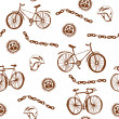 Bycicle funny seamless pattern grunge — Stock Vector #27074835