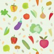 ストックベクタ: Vegetables seamless pattern
