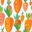 Carrot seamless funny pattern — Stock Vector
