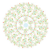 花卉圆动机弹簧设计 — 图库矢量图片