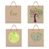 Bags eco design - paper texture — Wektor stockowy
