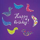 祝你生日快乐卡可爱设计 — 图库矢量图片