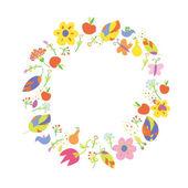 Autumn abstract frame circle — Stock Vector