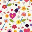 Floral seamless vintage pattern — Stock Vector