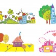 Vector de stock : Funny background for kids