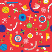 Christmas abstract seamless pattern with snow — Stock Vector