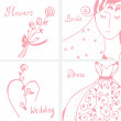 ストックベクタ: Wedding invitation design elements