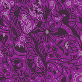 Floral seamless pattern purple colors — Stock Vector
