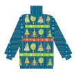 Christmas sweater knitted pattern with trees and snow — Stock Photo