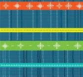 Winter Christmas knitting seamless pattern with snowflakes — Stock vektor