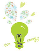 Eco-glühbirne-konzept — Stockvektor