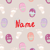 Baby foot announcement card — Stock vektor
