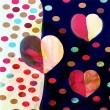 Stock Photo: Abstract modern valentine day background with hearts
