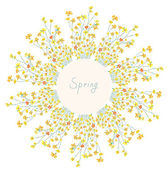 Floral frame for spring — Vector de stock