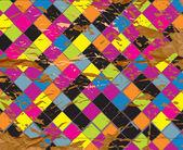 Grunge de xadrez papel abstrato — Fotografia Stock