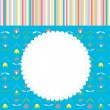 Greeting card for baby or child with pattern — Stock Vector #46602229