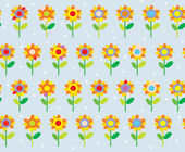 Flower seamless pattern simple and cute — Stock Vector