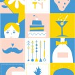 Party design elements - set of funny icons — Stock Vector #48982013