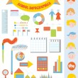 School infographic set with icons, faces, frames — Stock Vector
