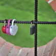 Love locks. - Stock Photo